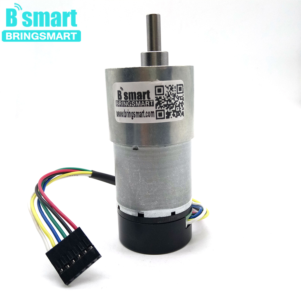 Bringsmart JGB37 3530GB Gear Motor with Encoding Board 24V High Torque 12 1600rpm Mini Coding Device Motor Encoder DC Motor