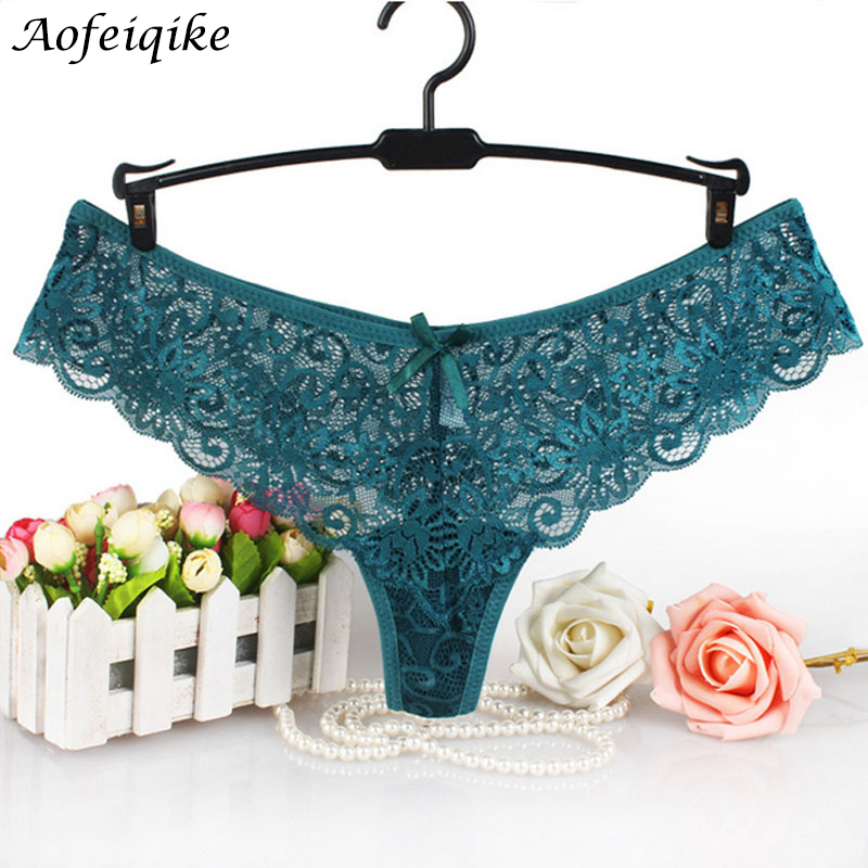 Europe Yardage Plus Size Underwear Women Sexy Lingerie Print Thongs and G String Lace Panties T-back Seamless String  Q