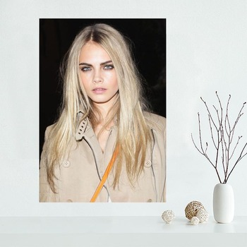 Nice Cara Jocelyn Delevingne Decorative Canvas Poster High Quality Home Decoration Wall Art Cloth Silk Fabric Wall Poster Print image