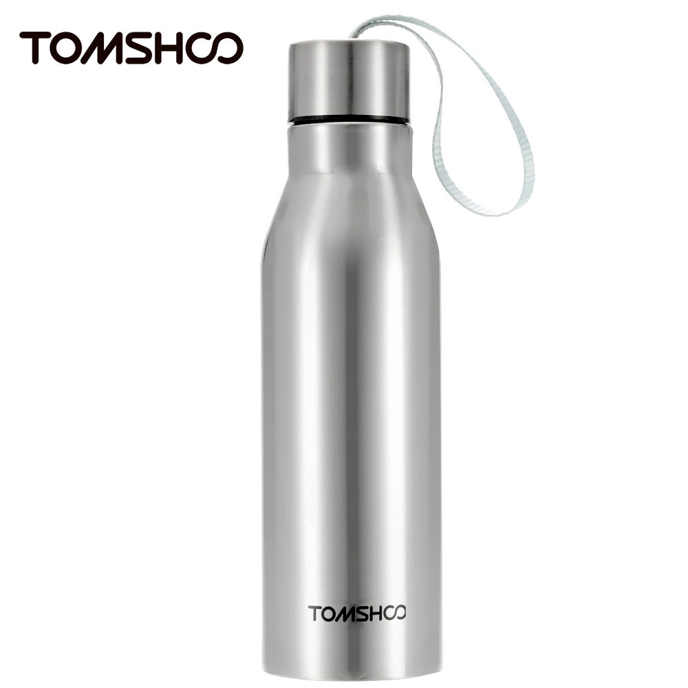 TOMSHOO 450ml Double Layer Stainless Steel Insulated Vacuum Cup Outdoor Sports Thermal Water Bottle Cup Container Hiking Camping water bottle