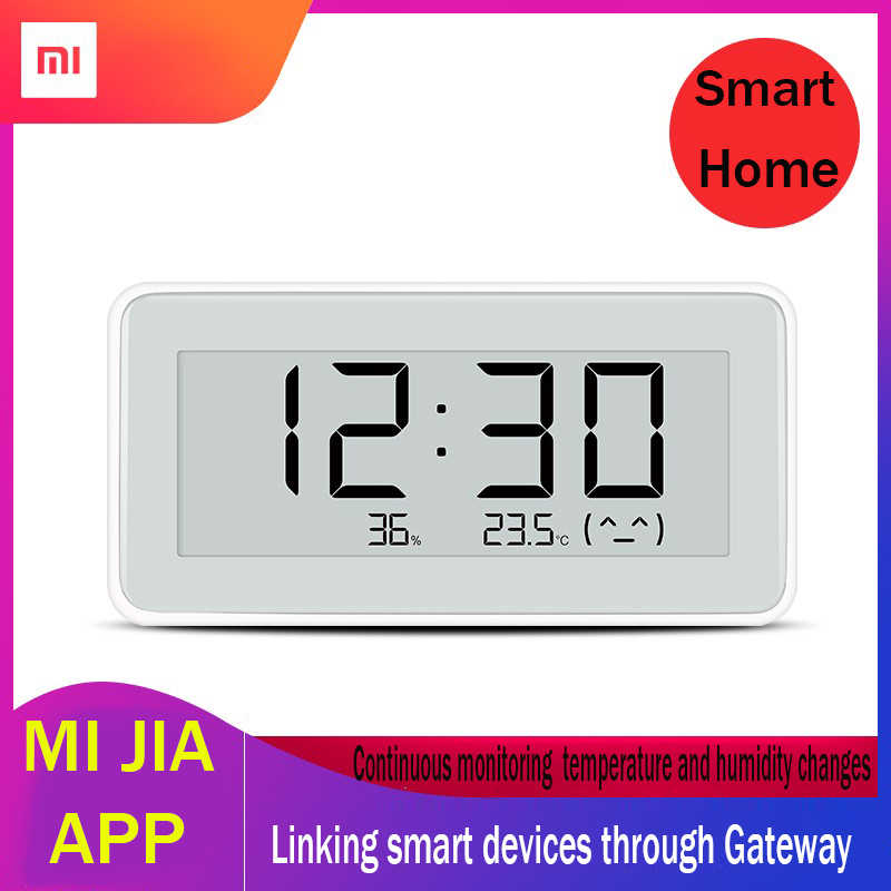 Xiaomi Mijia Smart Hygrometer Thermometer BT4.0 Listrik Nirkabel Digital Clock Indoor & Outdoor LCD Suhu Alat Ukur