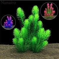 26cm subaquática artificial planta ornamentos aquário tanque de peixes verde crisântemo água grama decoração paisagem