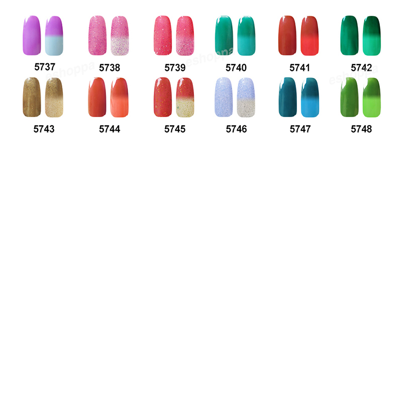 Customized Clou Beaute Any One Color Temperature Change Color Nail