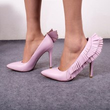 2017 Fashion Trend Wedding Party Dress Shoes Women Pointed Toe Sexy Pumps Multi Fringe Embellished Patchwork High Heels