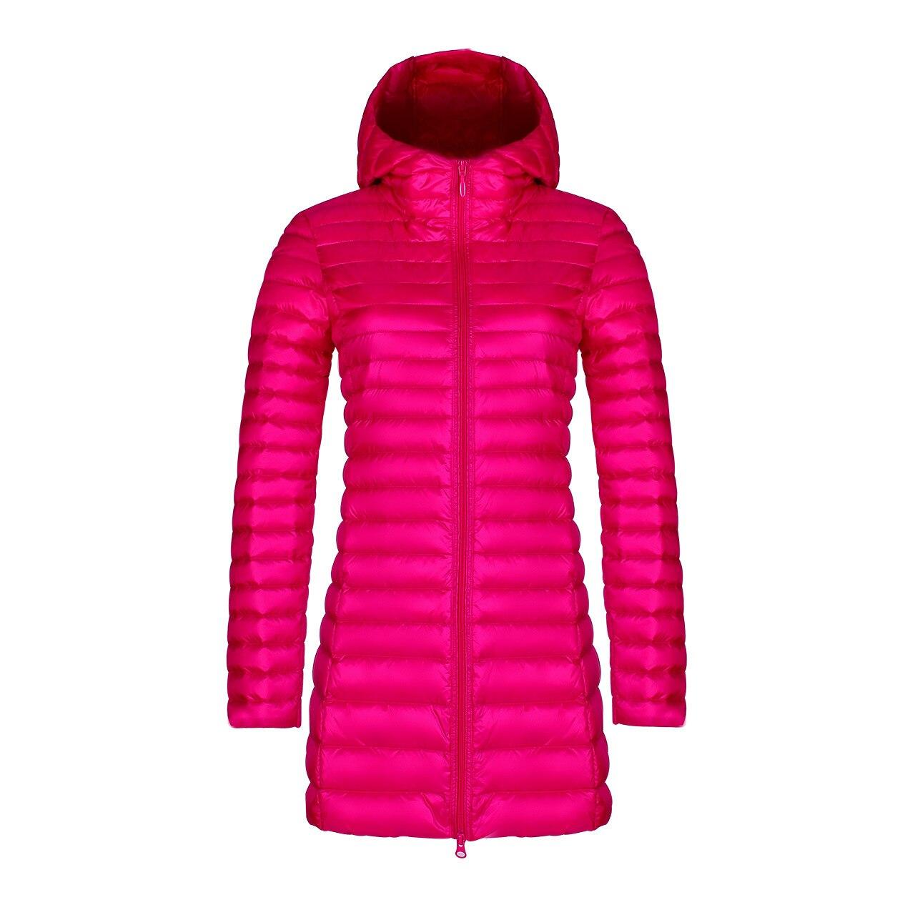 Winter Hooded Down Jackets Women Down Coats Elegant Warm Jacket Ultra Light 90% Duck Hood Down Parka Female