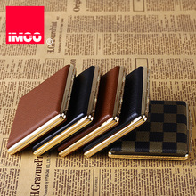 IMCO Original Cigarette Case Cigar Box Genuine Leather Tobacco Holder Pocket Storage Container Smoking Accessories