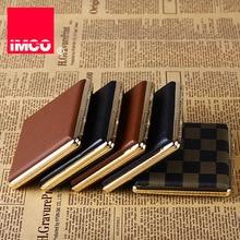 IMCO الأصلي علبة السجائر علبة سجائر جلد طبيعي حامل التبغ جيب تخزين الحاويات التدخين السجائر اكسسوارات