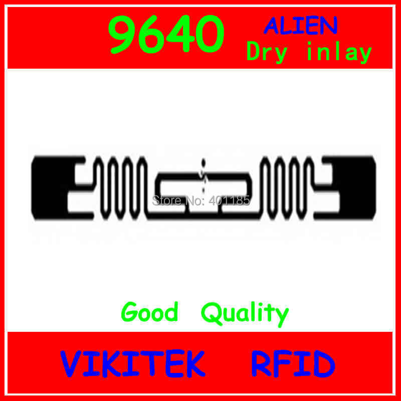 Alien authoried 9640 UHF RFID dry inlay 860-960MHZ Higgs3 915M EPC C1G2 ISO18000-6C can be used to RFID tag and label