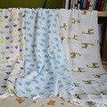 1.2x1.2M Super Soft Newborn Baby Swaddling Bamboo Fiber Wrap Kids Blanet Softly Mantas Para Cama 2 Single Layers