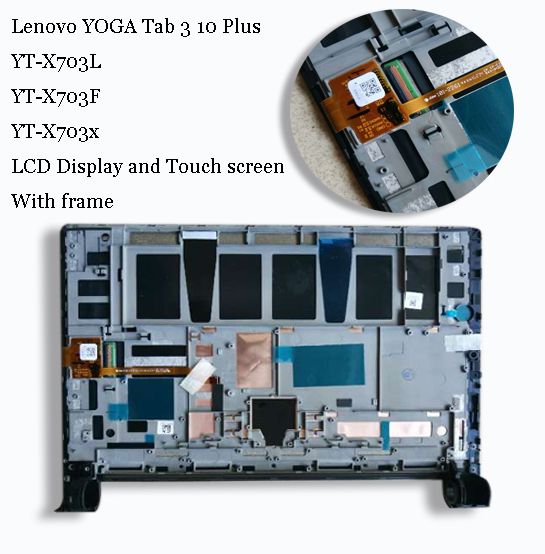 For Lenovo YOGA Tab 3 10 Plus X703L X703F YT-X703L YT-X703X LCD Display Matrix Screen Touch Panel Digitizer Assembly With Frame