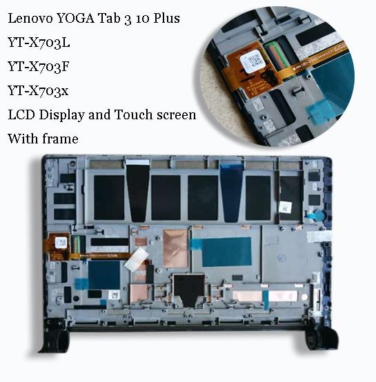 For Lenovo YOGA Tab 3 10 Plus X703L X703F YT-X703L YT-X703X LCD Display Matrix Screen Touch Panel Digitizer Assembly with frameFor Lenovo YOGA Tab 3 10 Plus X703L X703F YT-X703L YT-X703X LCD Display Matrix Screen Touch Panel Digitizer Assembly with frame