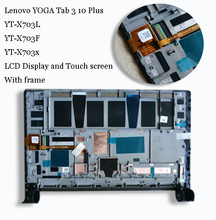 For Lenovo YOGA Tab 3 10 Plus X703L X703F YT X703L YT X703X LCD Display Matrix Screen Touch Panel Digitizer Assembly with frame