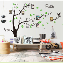 Large 120*170cm Black 3D DIY Photo Tree PVC Wall Decals Adhesive Family Living Room Wall Stickers Mural Art Home Decor