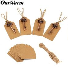 OurWarm 50Pcs Rustic Wedding Favors and Gifts for Guest Skeleton Bottle Opener + Blank Tags Souvenirs Party Decoration