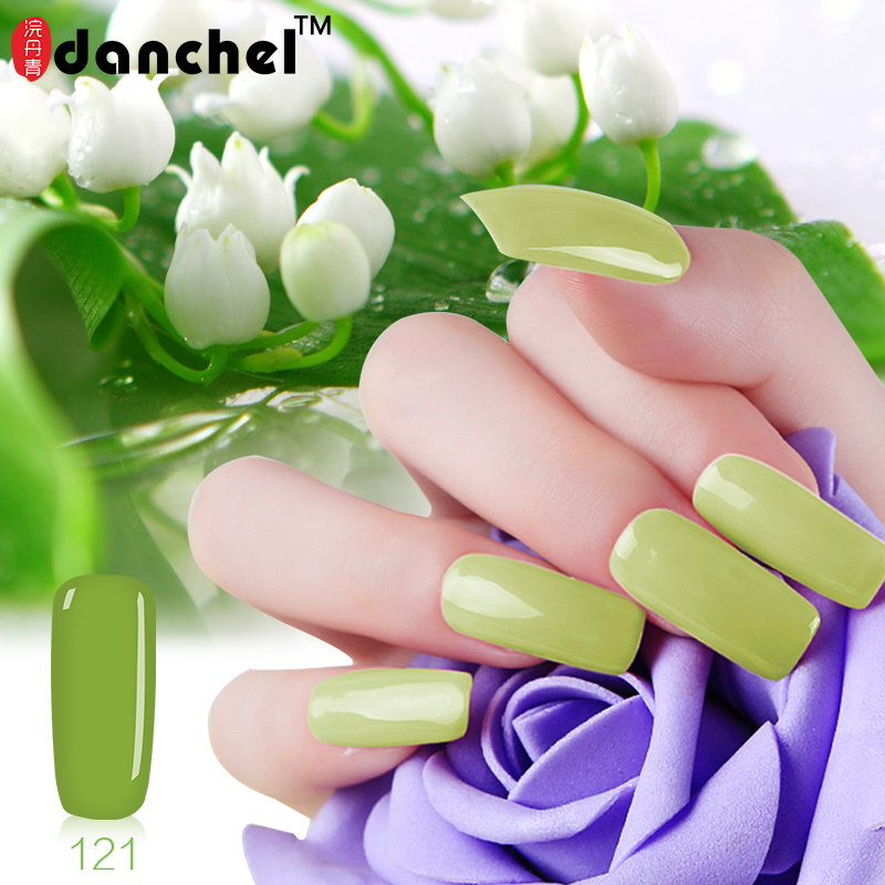 Danchel Soak Off UV Gel Polish Larga duración 9ml Green Series Manicure Nail Art Gel Polish Barniz Shilak Primer Lacquer