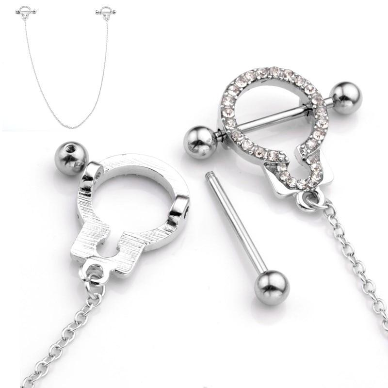 Aliexpresscom  Buy 2017 Hot Stainless Steel Handcuffs Cubic Zirconia Crystal Nipple -9547
