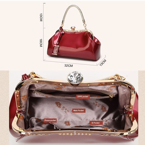 Image 4 - ZENBEFE Drop Shipping Evening Bags Patent Leather Women Handbags Fashion WomenS Shoulder Bags Ladies Clutchs Wedding Party Bags