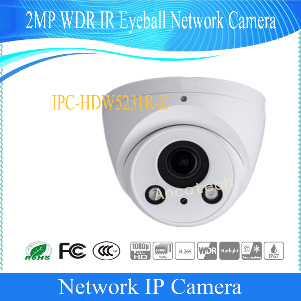 Free Shipping DAHUA Security IP Camera cctv 2MP WDR IR Eyeball Network Camera with POE IP67 Without Logo IPC-HDW5231R-Z dahua 2 7mm 12mm motorized lens 2mp wdr ir eyeball network camera ipc hdw5231r z free dhl shipping