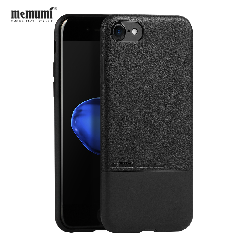 memumi Luxury Brand Case for iPhone 7 8 Plus Genuine Leather Cover for iPhone 8plus 7plus Thin Back Case Funda ip7 i8 plus