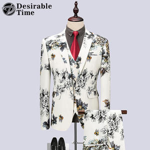 Desirable Time Wedding 3 Piece Groom Suits Tuxedo for Men