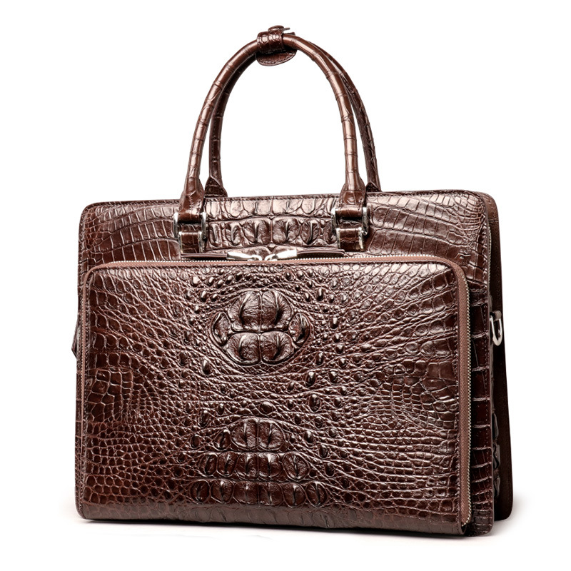 briefcase business man bag crocodile skin handbag junsun d100 car gps navigator with free maps