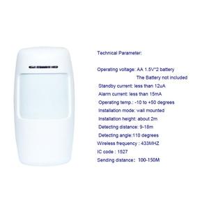 Image 5 - Sgooway système dalarme de sécurité domestique sans fil, GSM, avec détecteur PIR, voix, russe, anglais, espagnol, français