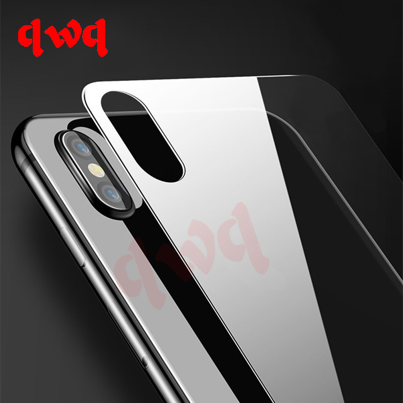 9H Rear Full Cover Tempered Glass For IPhone X On The Back Screen Protector For IPhone X 10 Protective Toughened Glass Back Film
