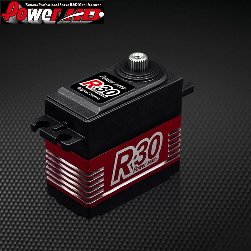 1pcs Power HD R30 30KG High Voltage 6.0-7.4V Digital Servo for RC Cars 1:8 1:10 Drift Touring power hd lw 20mg 20kg 0 16s waterproof high torque metal gear standard digital servo for 1 8 1 10 scale rc cars