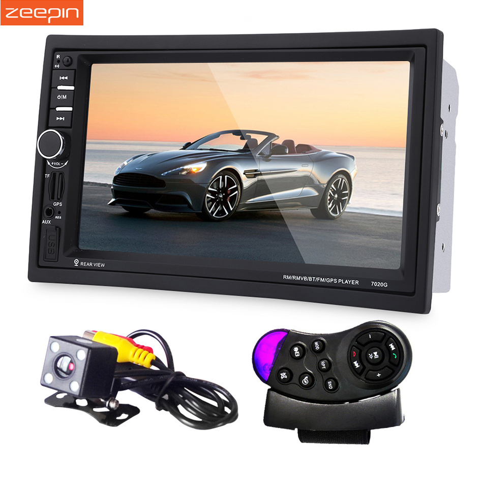 7020G GPS Navigation Car MP5 Player Bluetooth 2 Din Car Radio Player With Rear view Camera Steering-wheel Remote Control портативный gps навигатор lk navigation e18 gps