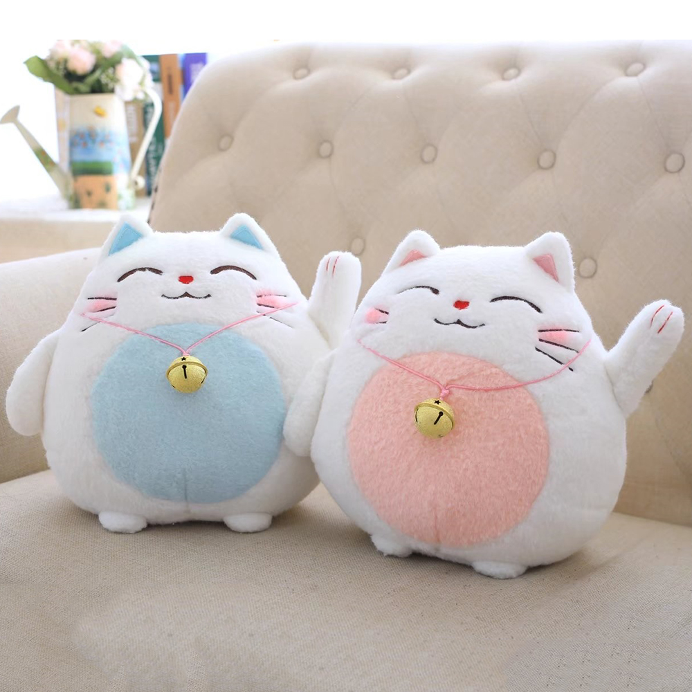 Cute Mini Lucky Cat Plush Filling Toys, Creative Cat Bamboo Charcoal Car Decorative Dolls, Kids toy Child Gifts
