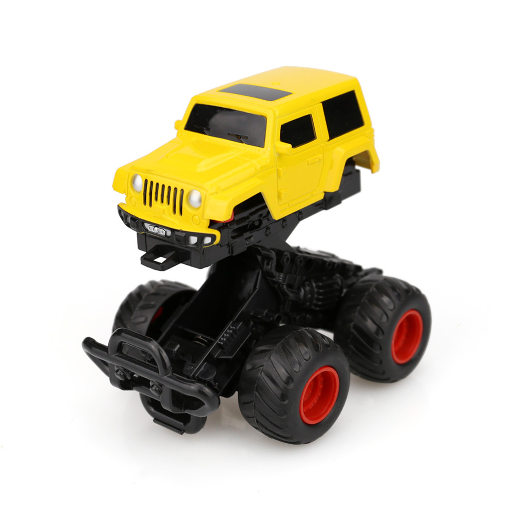 Mini Vehicle Children Kids Toy Decor Children Mini Vehicle Pull Back Cars With Big Tire Wheel Creative Gifts For Kids M1224