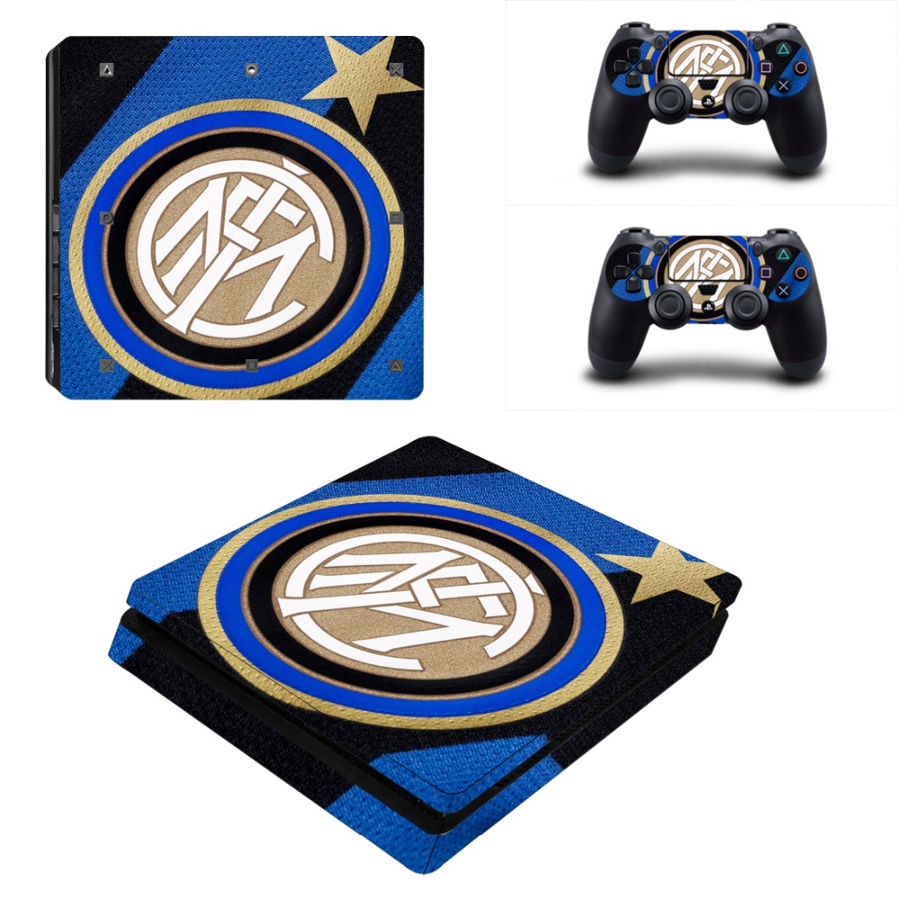 Inter Milan Football Club PS4 Slim Skin Sticker For Sony PlayStation 4 Console and Controller For Dualshock 4 PS4 Slim Sticker