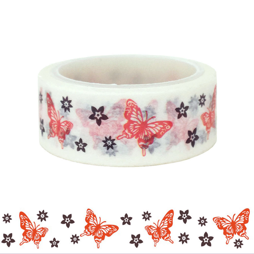 20pcs/set Butterfly Washi Tape Valentine's Day DIY Decorative Hand DIY Paper Washi Tape Manufacturer Wholesale