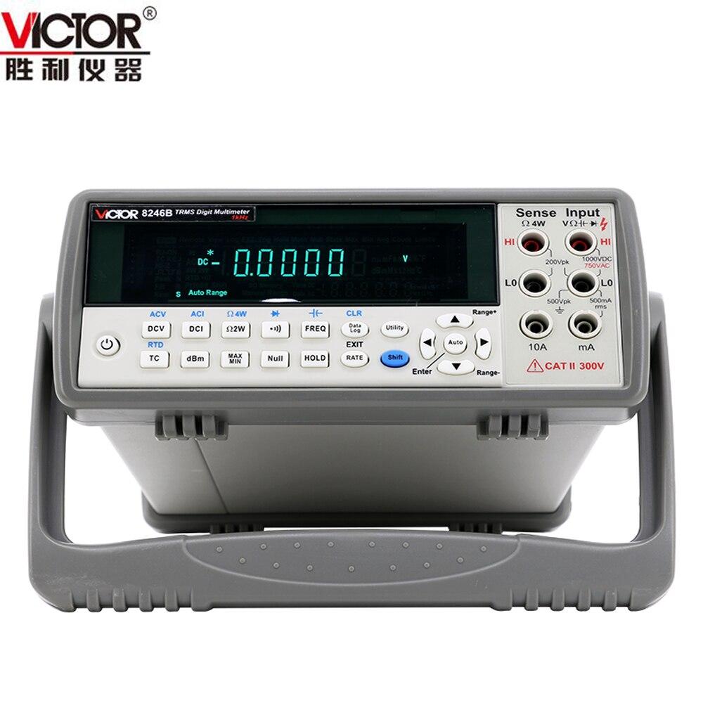 VICTOR VC8246B Bench Type Digital Multimeter Capacitance 100mf resistance 50M ohm