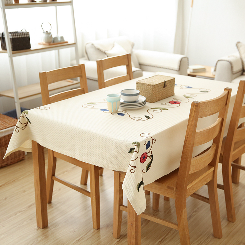 Cotton Linen Tablecloths Fabric Table Cloth Living Room ...