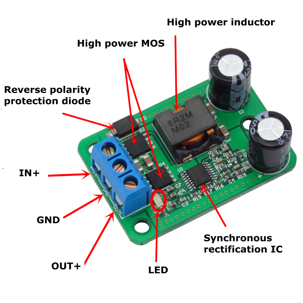 Dc Step Down Synchronous Rectification Adjustable Supply Power High Buck Converter Voltage Led Over 055l 10 Pcs Lot In Meters From Tools On