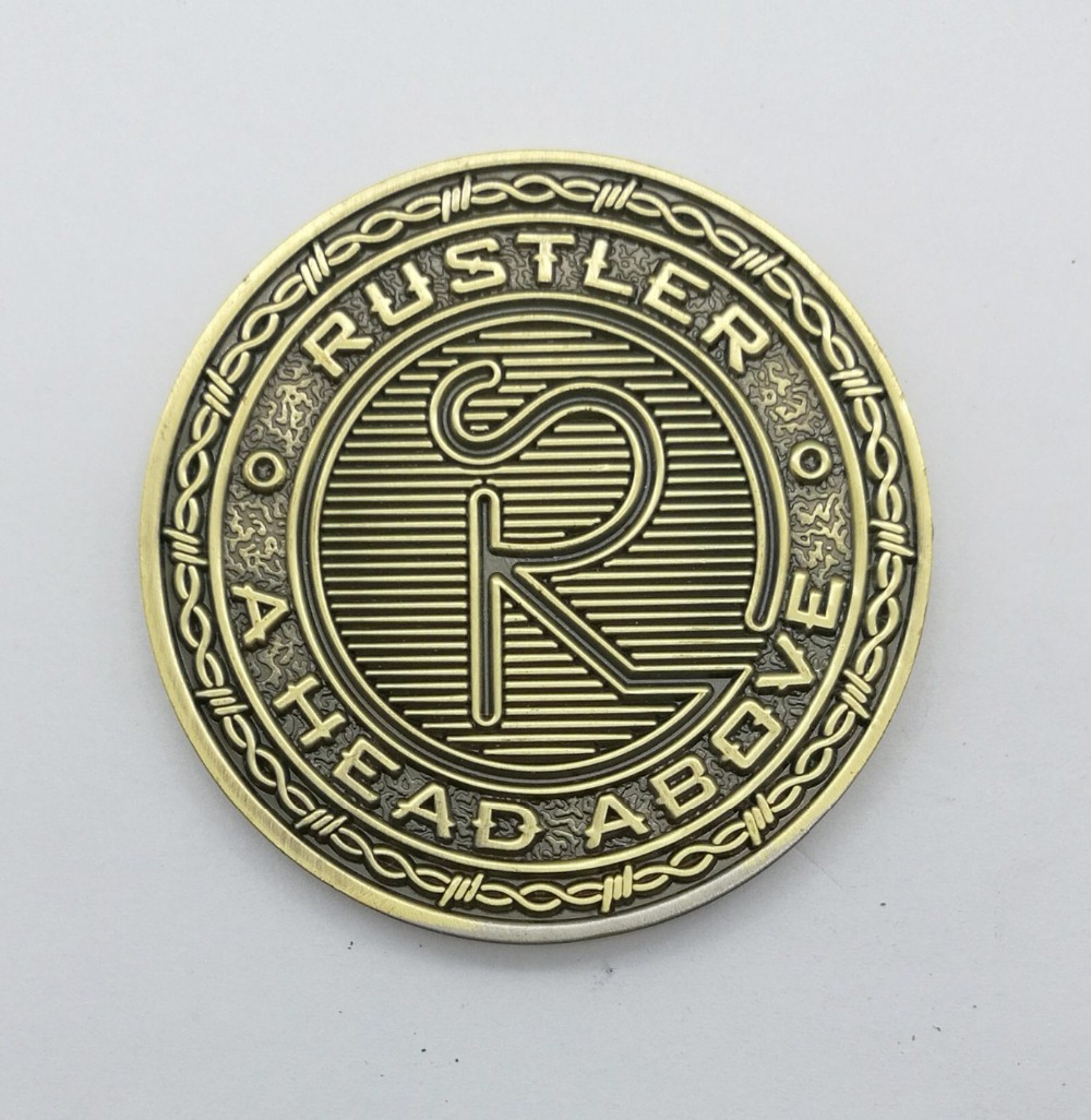 Wholesale manufacturers brass carved letter coins new style double sided coins in Non currency Coins from Home Garden