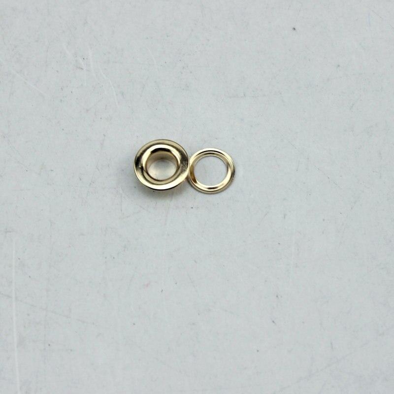 e55952f61b9ce2 300 zestaw 6mm samolot oczko Różowe złoto (srebrny) metalowe oczka miedzi  przyciski odzież akcesoria torebka ustalenia DARMO WYSYŁKA