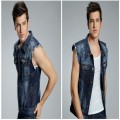 2016 spring new trend mens denim vest high quality sleeveless jackets men famous brand cotton jeans vest men Size M L XL 2XL 3XL