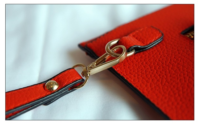 New Fashion Women Envelope Clutch Bag PU Leather Female Day Clutches Red Women Handbag Wrist clutch purse evening bags bolsas 4