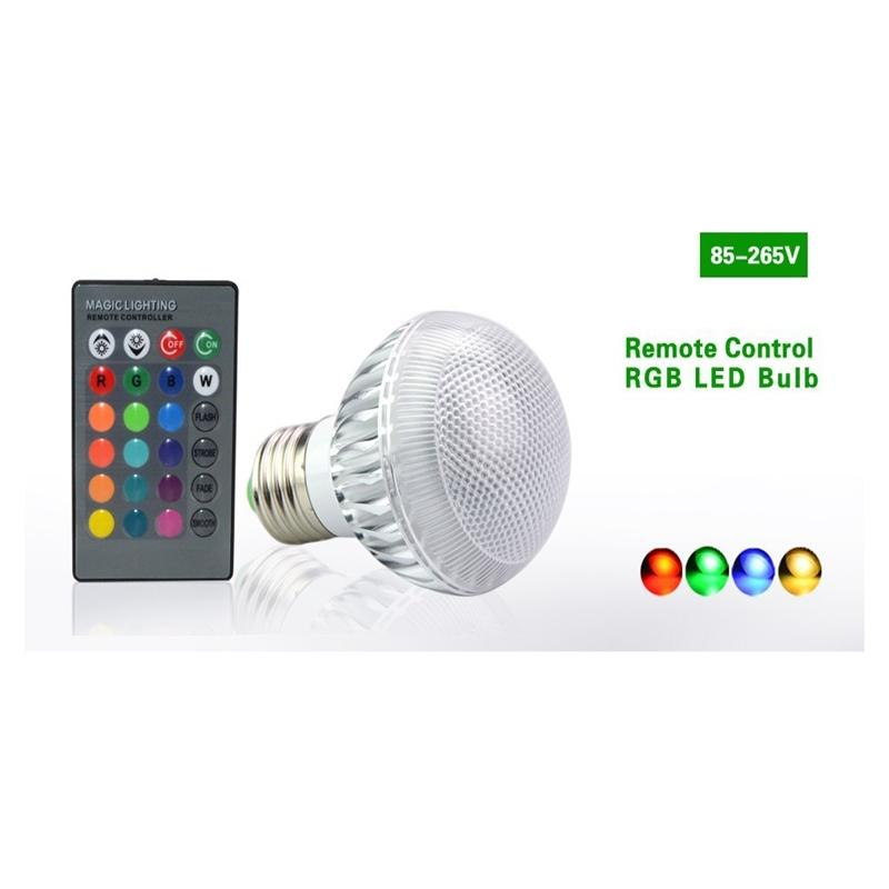 LumiParty RGB LED Light Bulb 16 Color Bulb Changeable Lamp multiple colour with Remote Control Led Lighting 16 color remote controlled led light bulb with multiple effects e 27 socket