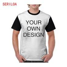Пользовательская футболка печать собственного дизайна логотипа/текста/фото