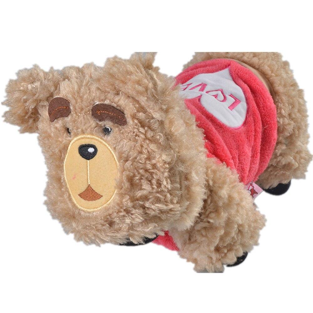 Güzel Köpek Aşağı Parkas Ayı Desen Köpek Yavrusu Hoodies Kış Pamuk Pet ceket Kırmızı Mavi Renk Sıcak Pet Roupas Boyutu XS Sml XL