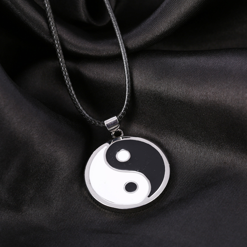 Simple Style Ying Yang Necklace 3