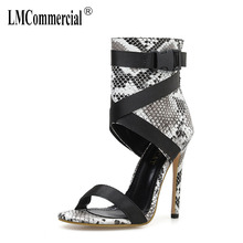 Sandals Woman Serpentine Sexy Princess Rome Ribbon Wrapped Fish Mouth Open Toe Fine Heel High-heeled Shoes luxury designers