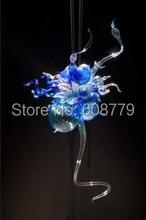 Free Shipping Unusual Hallway Murano Glass Mini Chandelier In Blue
