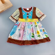 100% cotton Toddler Summer and Autumn with blue butterfly print ruffles Baby Girls clothing Hot Sale New style Dress for present butterfly fish hot sale fashion 100