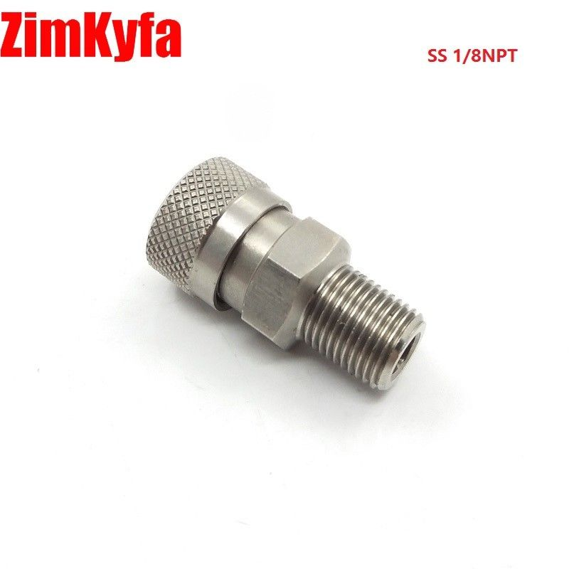 "Image 2 - Paintball PCP 8mm Stainless Quick Release Disconnect Coupler Fitting 1/8""BSP 1/8""NPT M10 Female Socket-in Paintball Accessories from Sports & Entertainment"