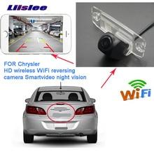 LiisLee car Rear View wifi Camera For Chrysler Sebring 300C  Lancia Thema wireless Licence lamp parking camera