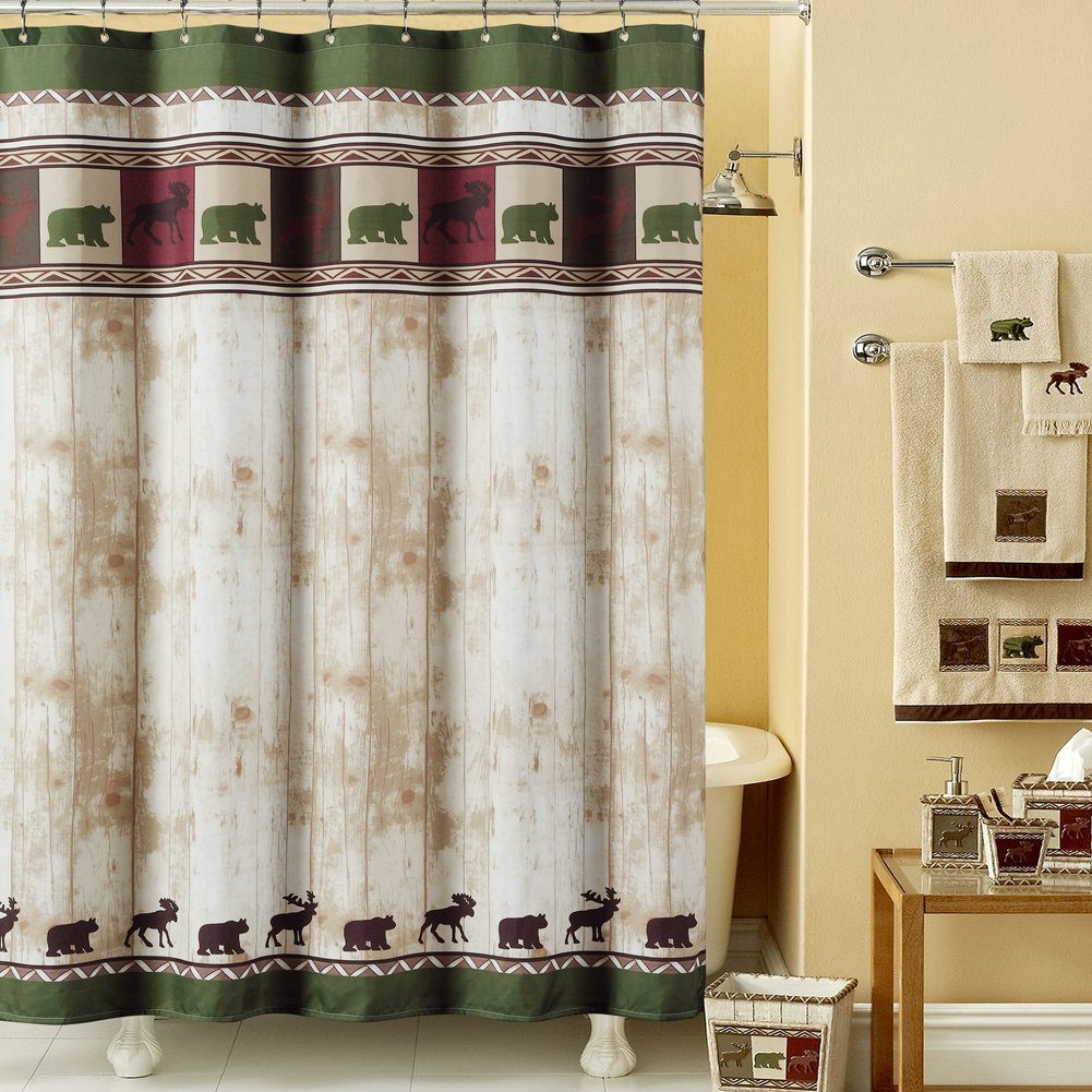 vintage shower curtain mildew resistant polyester 87973